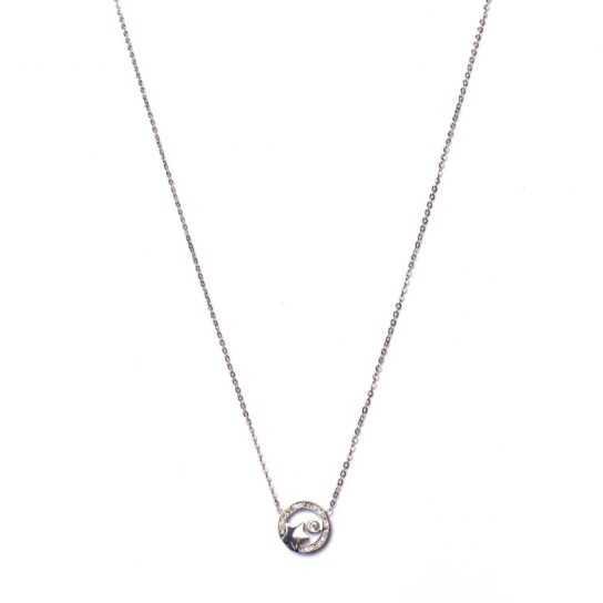 Collar Círculo estrella con circonita plata