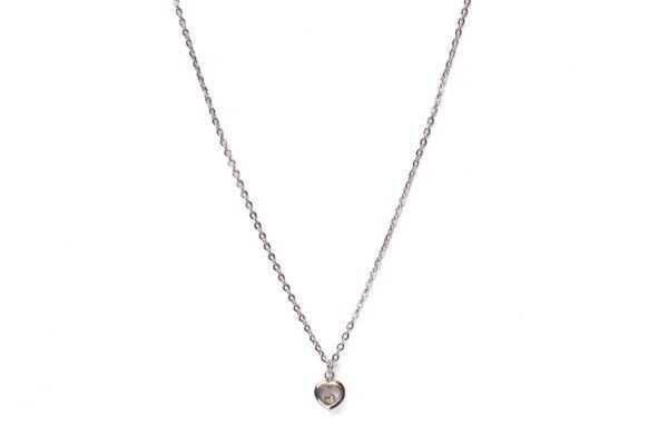 Collar Corazón Happy circonita plata