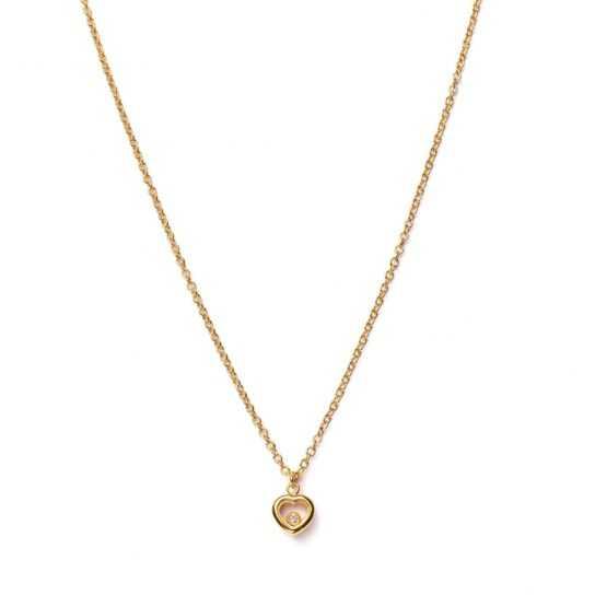 Collar Corazón Happy circonita dorado