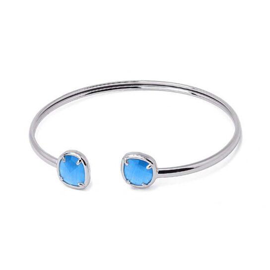 Pulsera Nadine Plata Azul